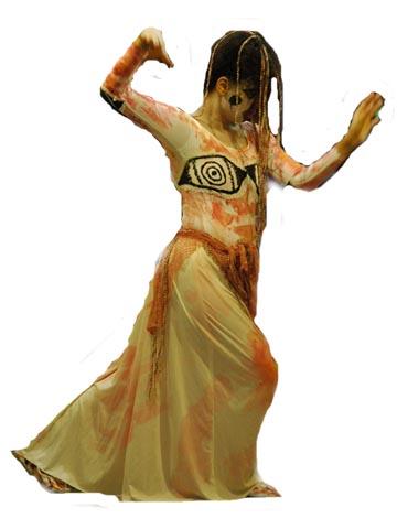 """Corazón Tierra """"DanzaDiosas"""" en su danza-poesía El cántaro de la Diosa: Origen"""