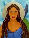 Mia Román Hernández celebra las diosas del mundo en su arte