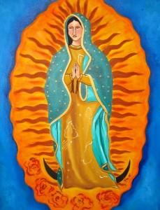 Virgen de la Guadalupe, pintura de la artista  Mia Román Hernández