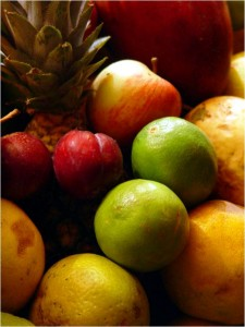 Piel saludable con dieta sana Frutas